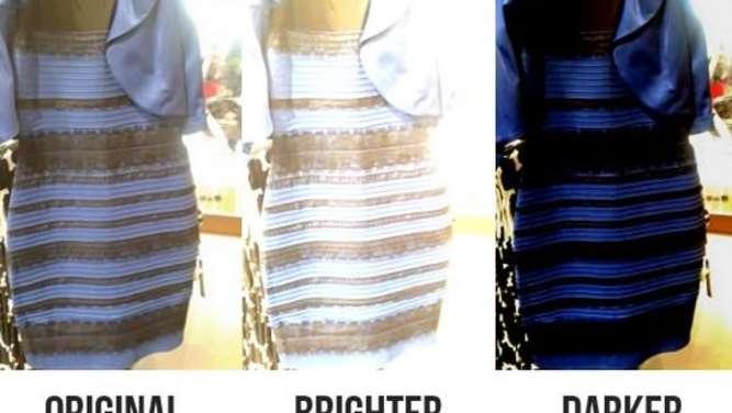 Blau Schwarzes Kleid Auflösung