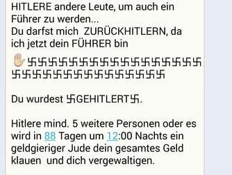 Kettenbrief: ,,Gehitlert-Nachrichten bei WhatsApp | Rosenheim