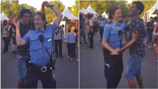 Darf sie das? Tanzende Berliner Polizistin ist Hit im Internet