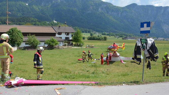 Absturz in Tirol: Deutscher (71) bei Notlandung mit Segelflugzeug verletzt