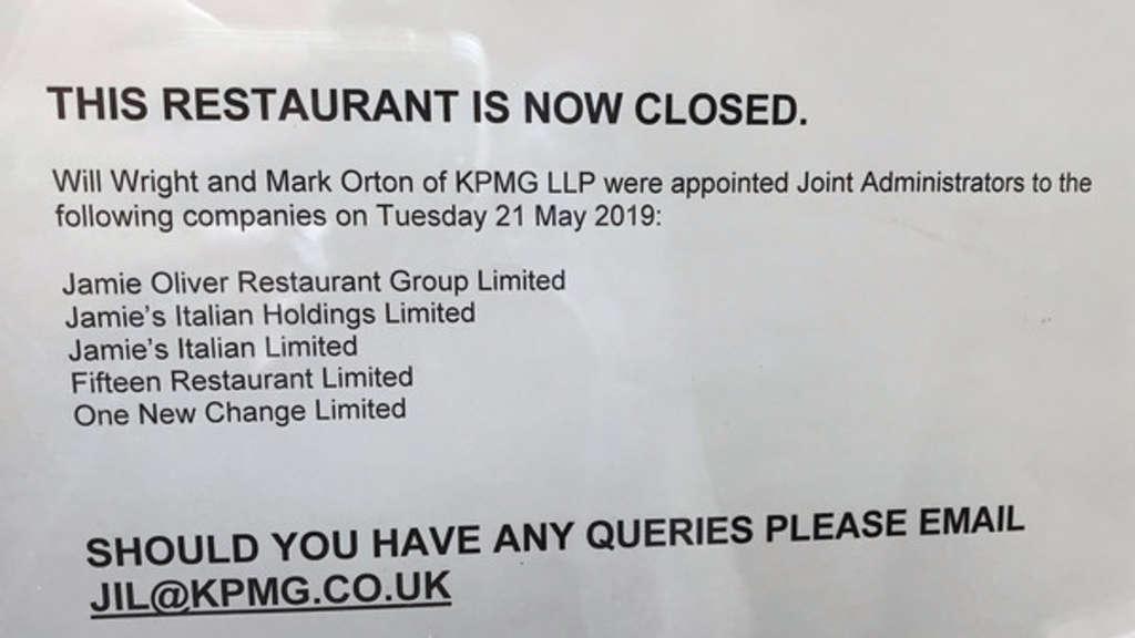 Jamie Olivers Restaurants in finanziellen Schwierigkeiten
