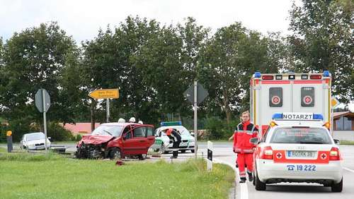 Crash bei Evenhausen