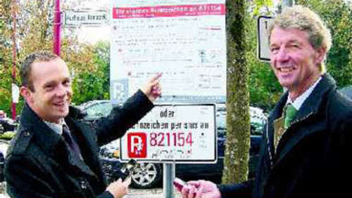 Neu in Bad Aibling: Parkticket per SMS lösen