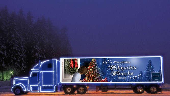 karstadt weihnachtstruck kommt nach rosenheim aktionen. Black Bedroom Furniture Sets. Home Design Ideas