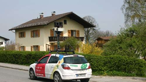 Google-Street-View-Auto in Brannenburg