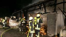Brand einer Lagerhalle in Bad Aibling