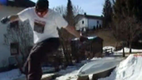 Backyard-Snowboarding