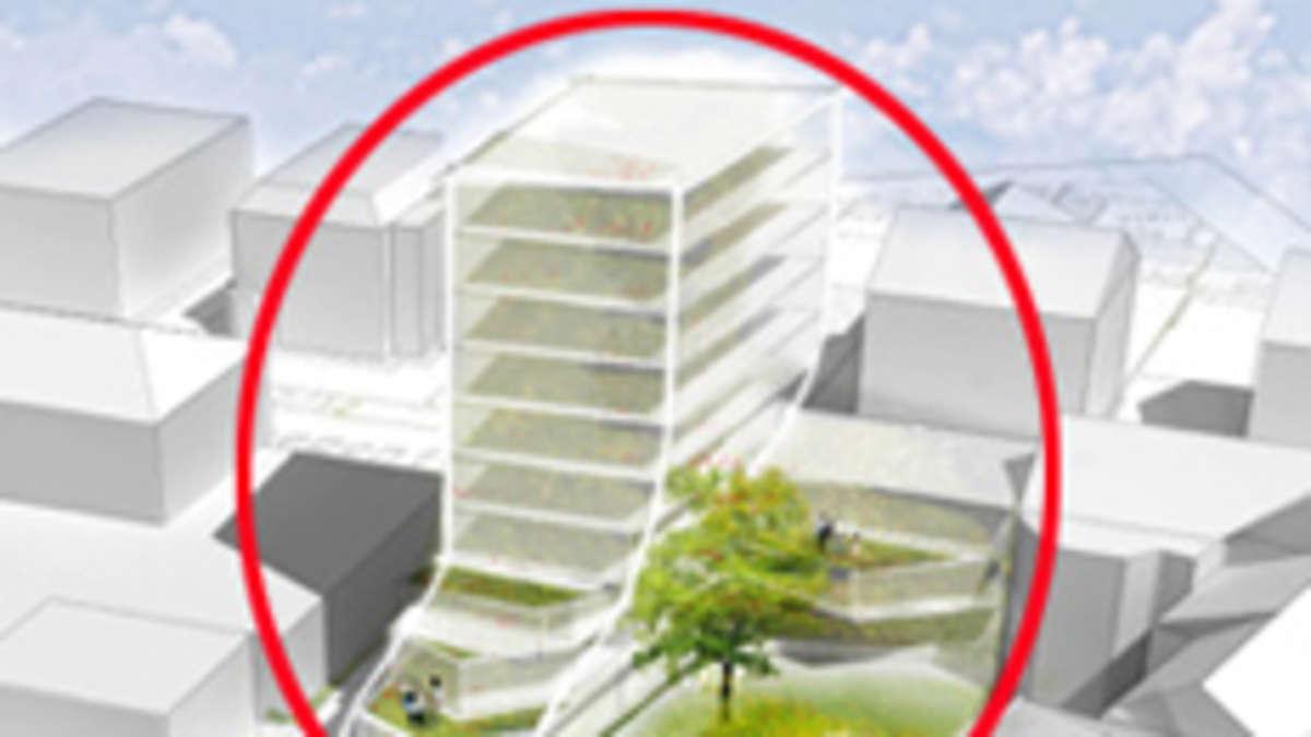 Planungen des capitol hochhauses in rosenheim schreiten for Architekturburo rosenheim