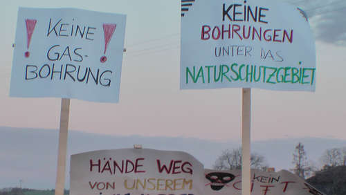 Demonstration am Langbürgner See