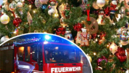 Christbaum in Flammen
