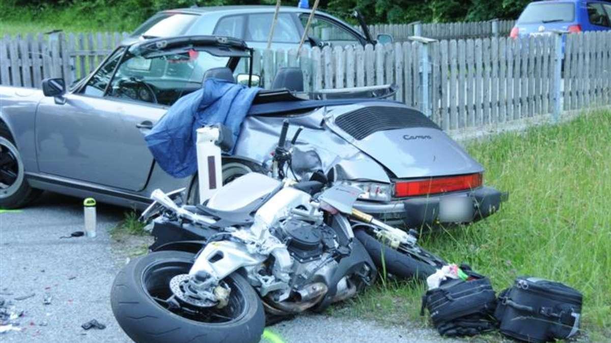 thiersee rosenheim motorradfahrer stirbt bei kollision mit porsche rosenheim land. Black Bedroom Furniture Sets. Home Design Ideas