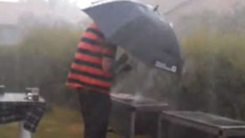 Grilling in the rain