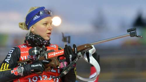 Biathlon: Mixedstaffel chancenlos