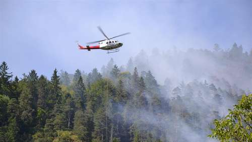 Waldbrand am Thumsee