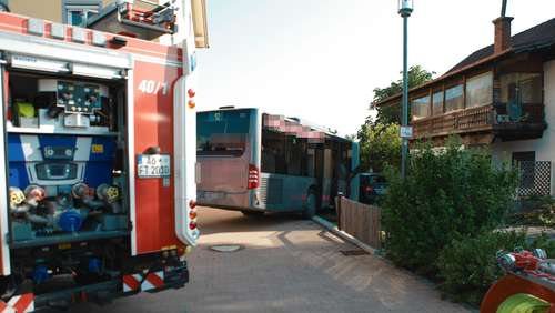 Unfall mit Bus in Teising