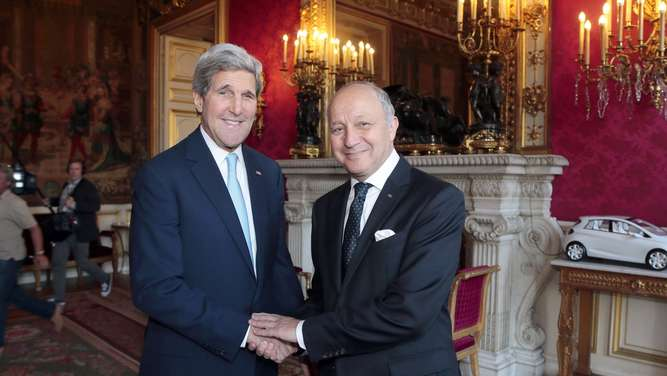 John Kerry, Laurent Fabius
