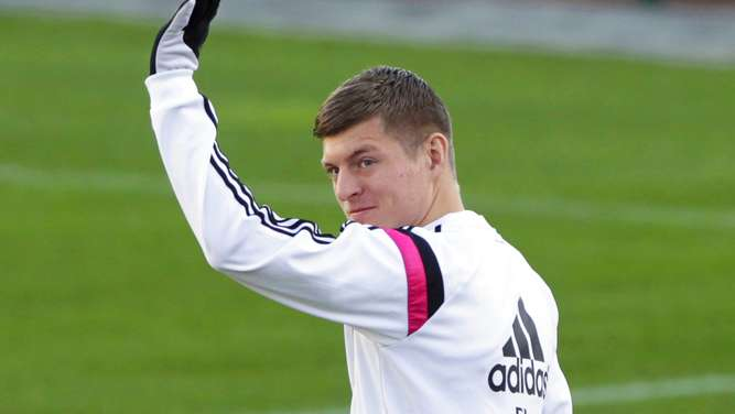 Toni Kroos im Real-Training
