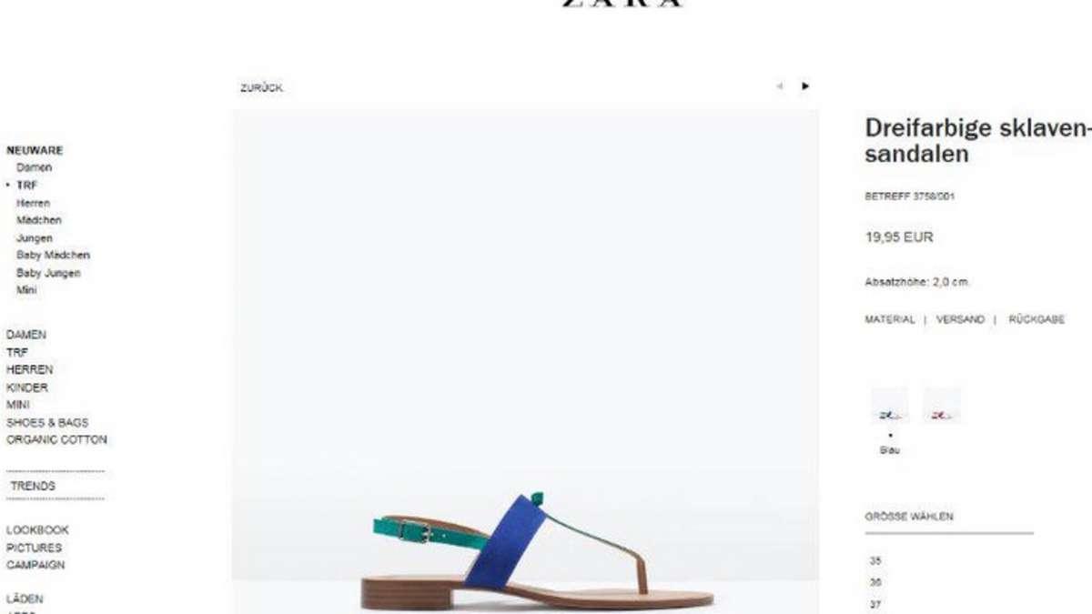 Dreifarbige Sklavensandalen Modekette Zara Blamiert Sich Erneut