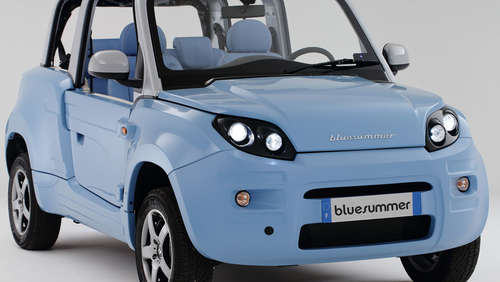 "So blau! Neues Elektro-Cabrio ""Bluesummer"""