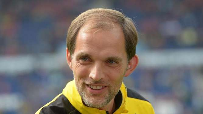 Dortmunds Trainer Thomas Tuchel. Foto: Peter Steffen