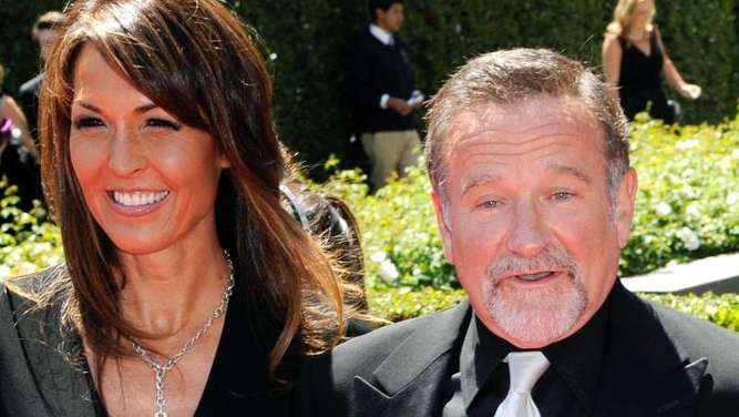 Robin Williams (1951-2014) und seine Frau Susan Schneider in Los Angeles (2010). Foto: Paul Buck