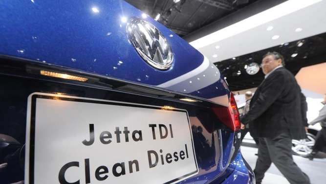 Ein VW-Jetta auf der North American International Auto Show (NAIAS) in Detroit. Foto: Uli Deck