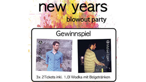 """new years blowout"": Tickets für Silvester-Sause verlost!"