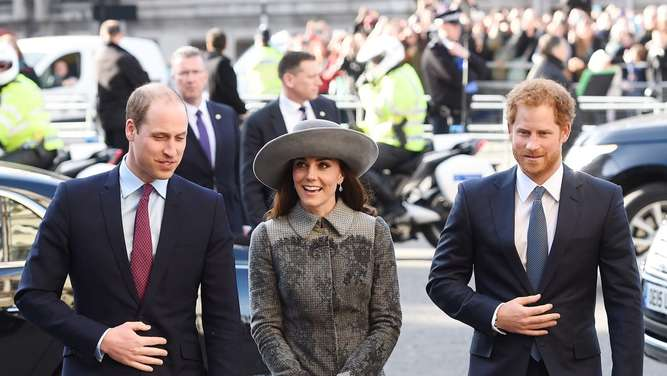 Herzogin Kate, Prinz Williams, Prinz Harry, Commonwealth Day