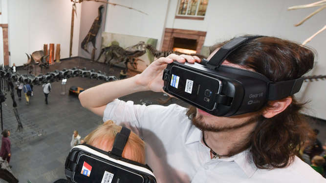 Virtual-Reality im Senckenberg Naturmuseum