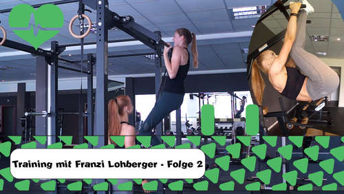 Ehrgeiz & Motivation: Rosenheimer Bodybuilderin Franzi Lohberger beim Training