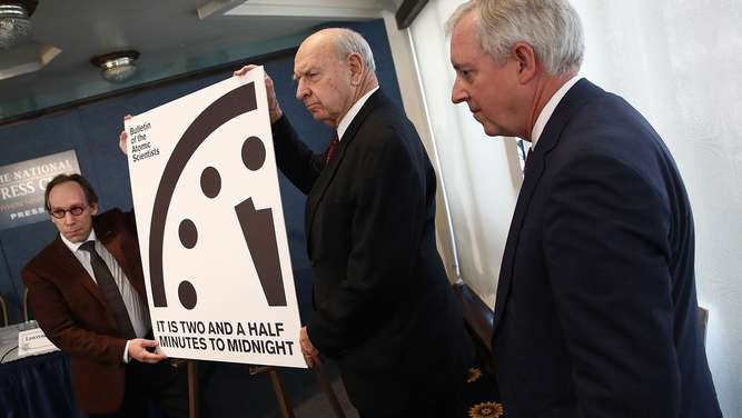 Bulletin Of Atomic Scientists Announces Time On 2017 Doomsday Clock