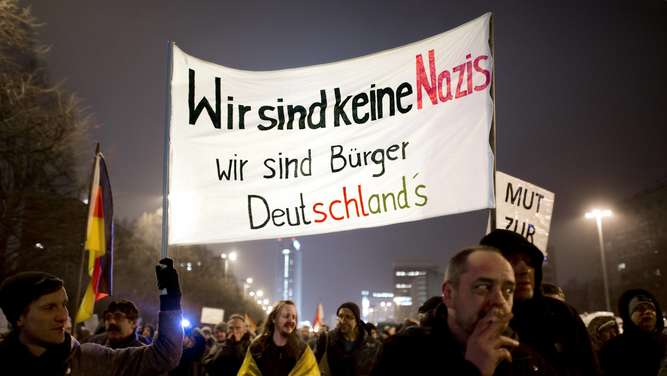 Pegida-Demonstranten in Berlin