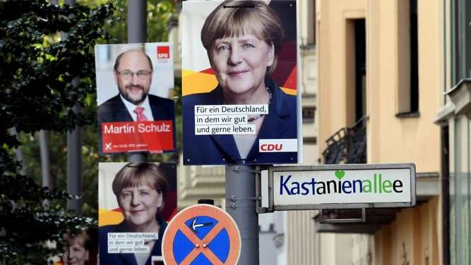 Wahlplakate in Berlin. Foto: Christina Peters
