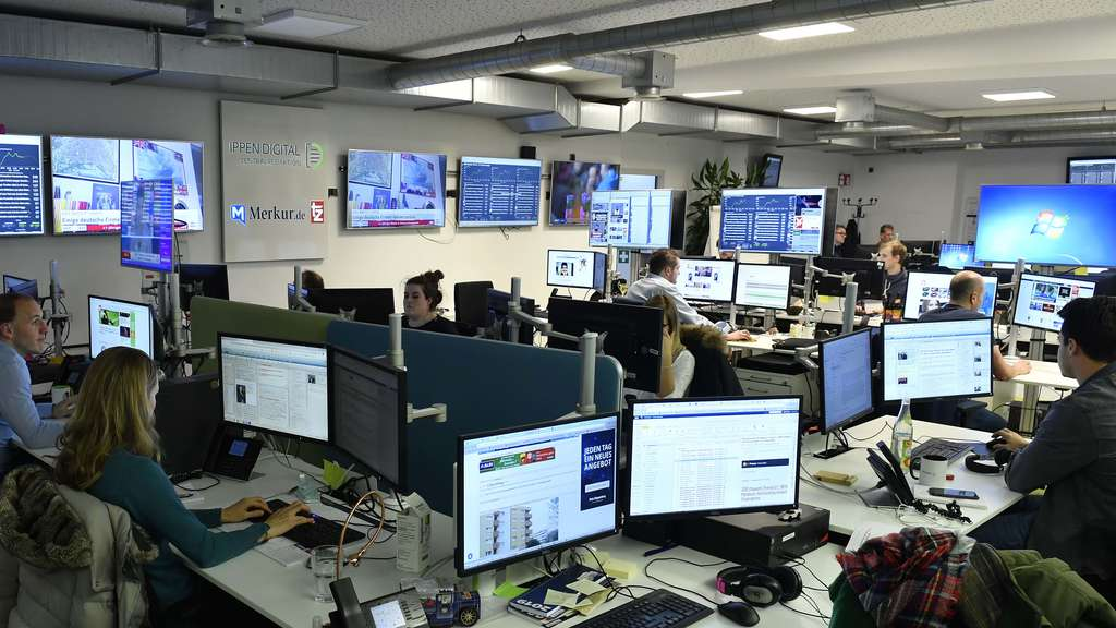 Im Newsroom der Ippen-Digital-Zentralredaktion.