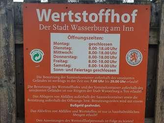 wasserburg diskussionsbedarf um k nftig k rzere ffnungszeiten am wertstoffhof wasserburg am inn. Black Bedroom Furniture Sets. Home Design Ideas