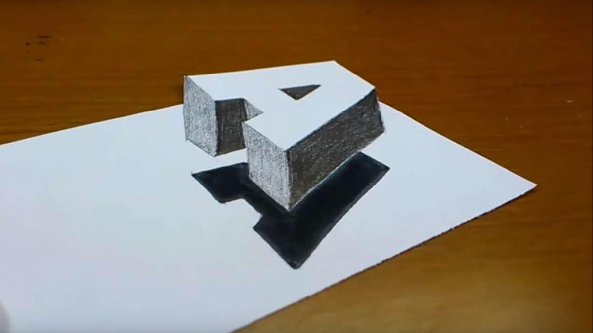 Video Des Tages Wie Man Einen Buchstaben Ganz Einfach In 3d
