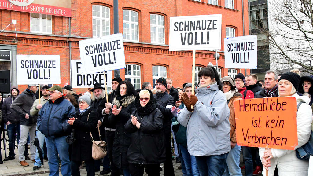 Demonstration in Cottbus