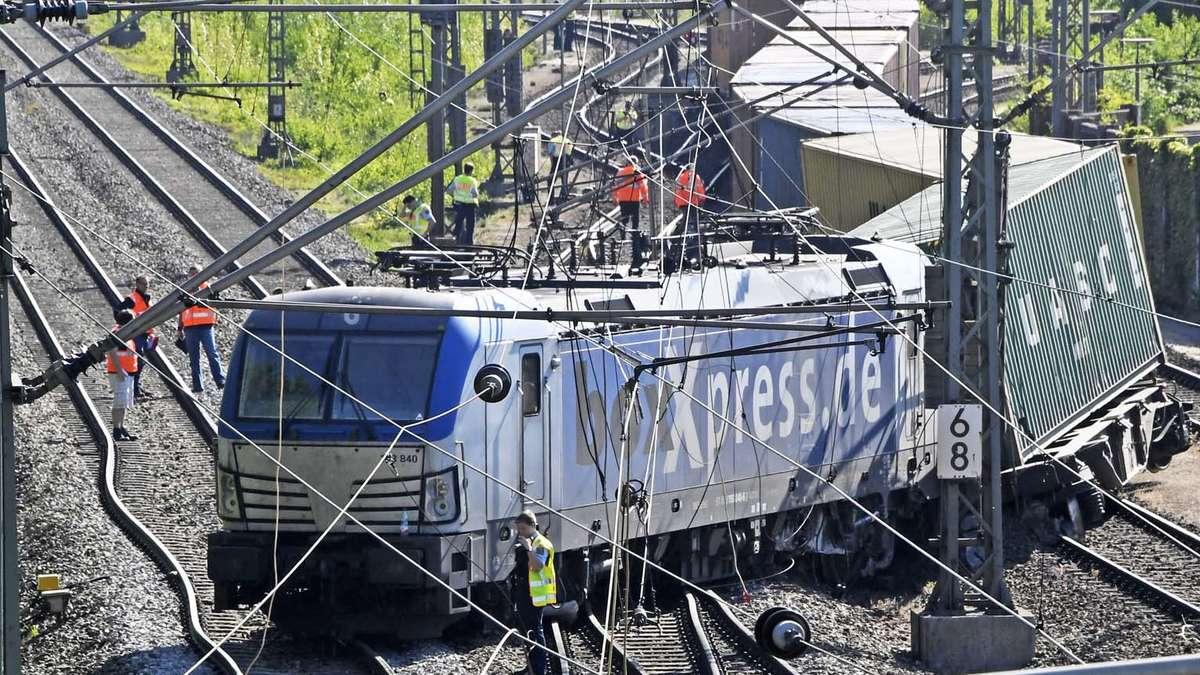 München Güterzug Entgleist Am Umschlagbahnhof Riem