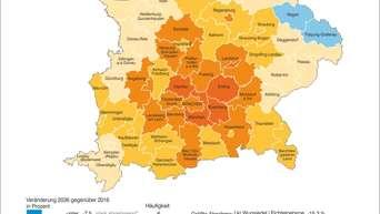 Landkreise Mittelfranken Karte.Bevolkerungszuwachs In Bayern Hier Zieht S Die Zuagroasten