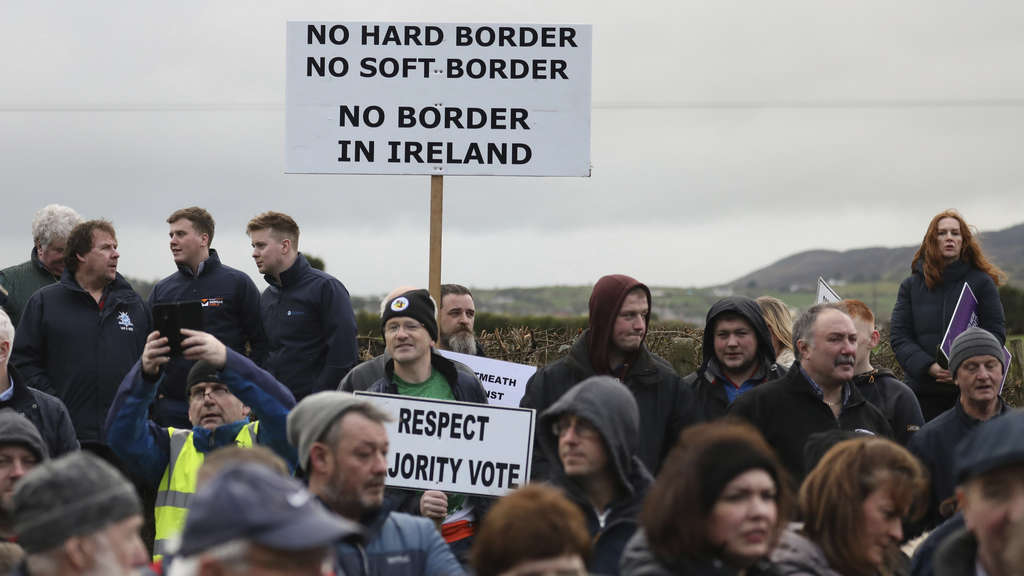 Brexit: Demonstration in Nordirland