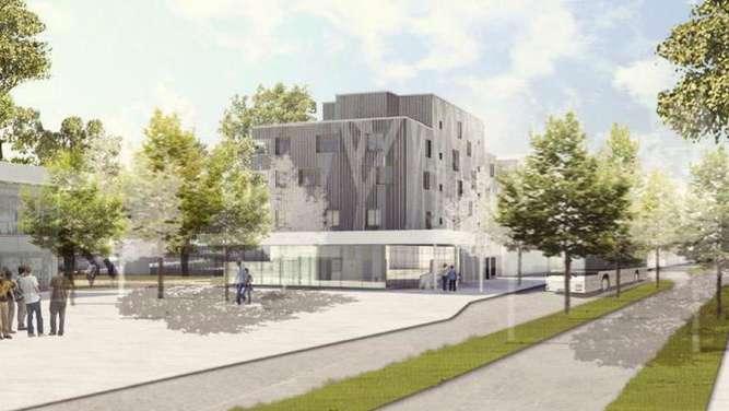 Das geplante wohn und gesch ftshaus am kolbermoorer for Architekturburo rosenheim