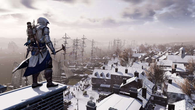 Mit Connor kämpfen Spieler in Assassin&#39s Creed III Remastered in der Amerikanischen Revolution.