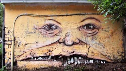 Coole Street Art mal anders