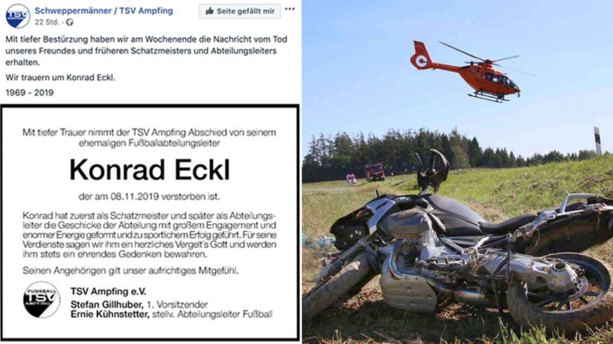 Ampfing: Ex-Vorstand der Schweppermänner Konrad Eckl nach schwerem Motorradunfall verstorben | Bayern - rosenheim24.de