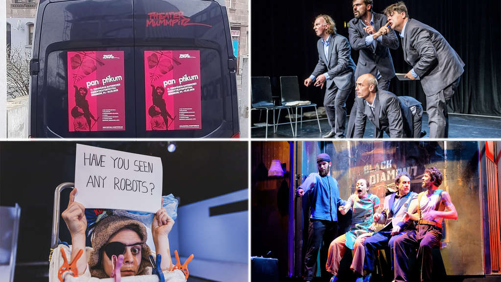 "Dabei beim Theater-Festival Panotpikum in Nürnberg: ""I will be everything"", ""Metro Boulot Dodo"", ""Sens""."