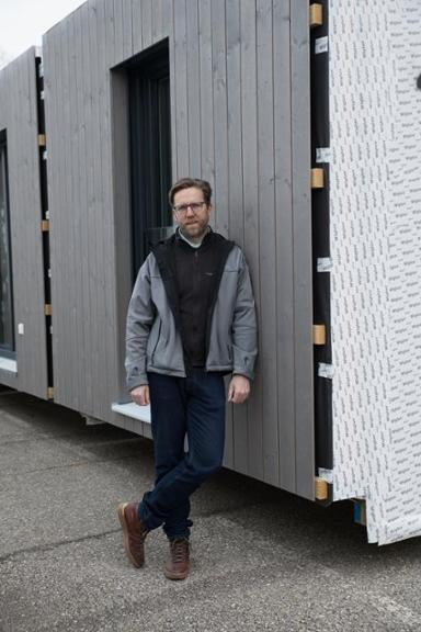 Merkur Artikel: Firma Decker:Timber Homes in der Produktion8