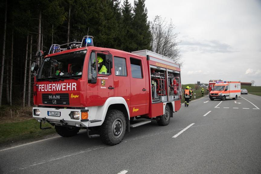 Unfall St2105 Wonneberg am 1. April